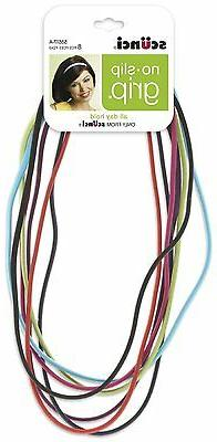 Scunci No-slip Grip Flat Bright Headwraps, 8 Ct - Colors May