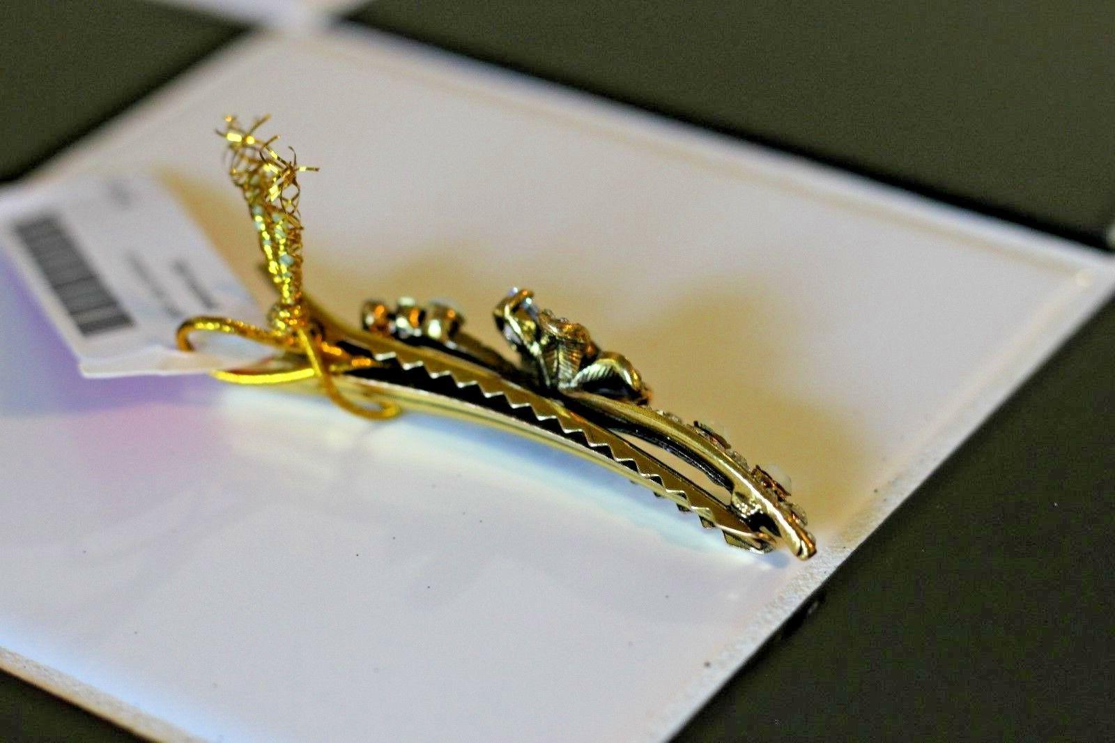 NWT Hair clip. Gold. Jewels. Rhinestone.
