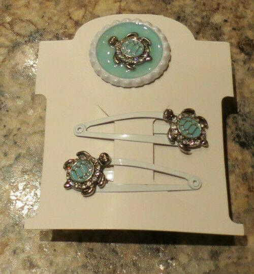 nwt turtle hair clips and glow in