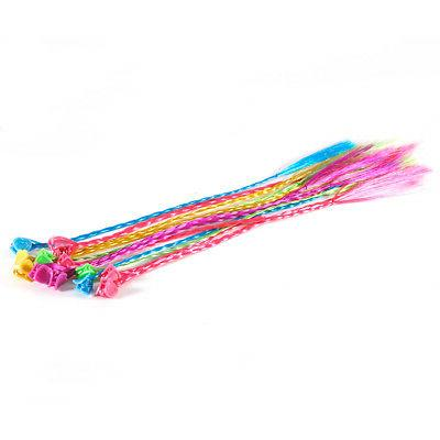 Nylon Clip-On Color Hair Braid Extensions