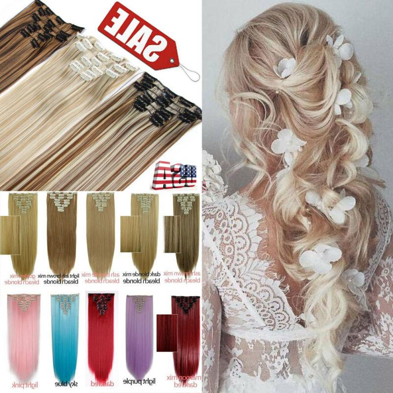 ombre 8 pieces clip in ins as