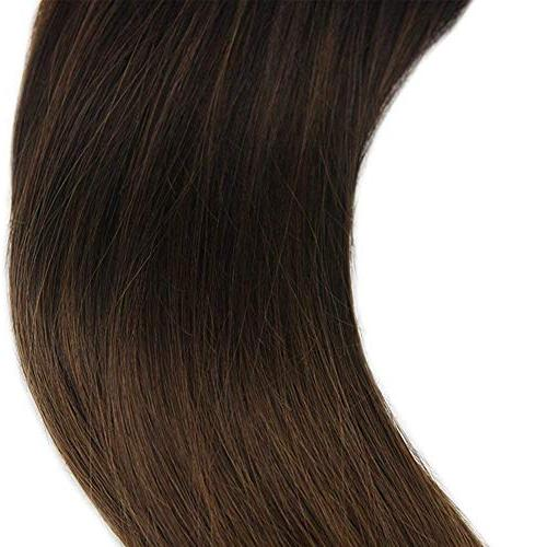 Full Pcs Gram Ombre Clip Clip Human Ombre Extensions Fading Dark Clip in Hair Extensions