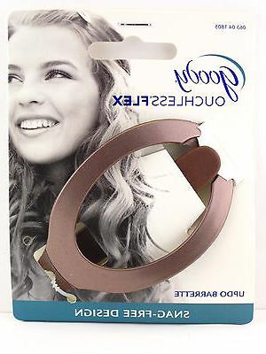 ouchless comfort flex updo hair barrette brown