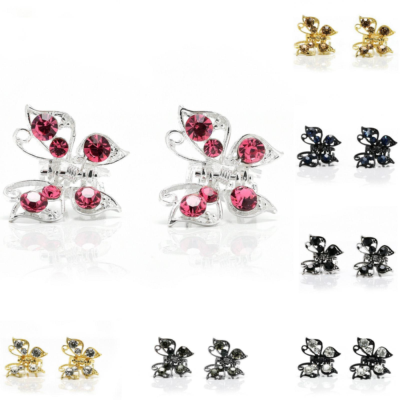 pair mini small hair clip butterfly clips