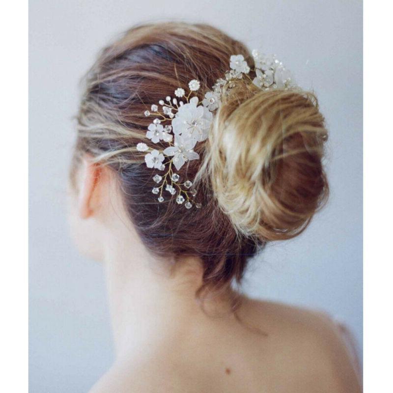 Pearl Flower Pins Comb Wedding Jewelry