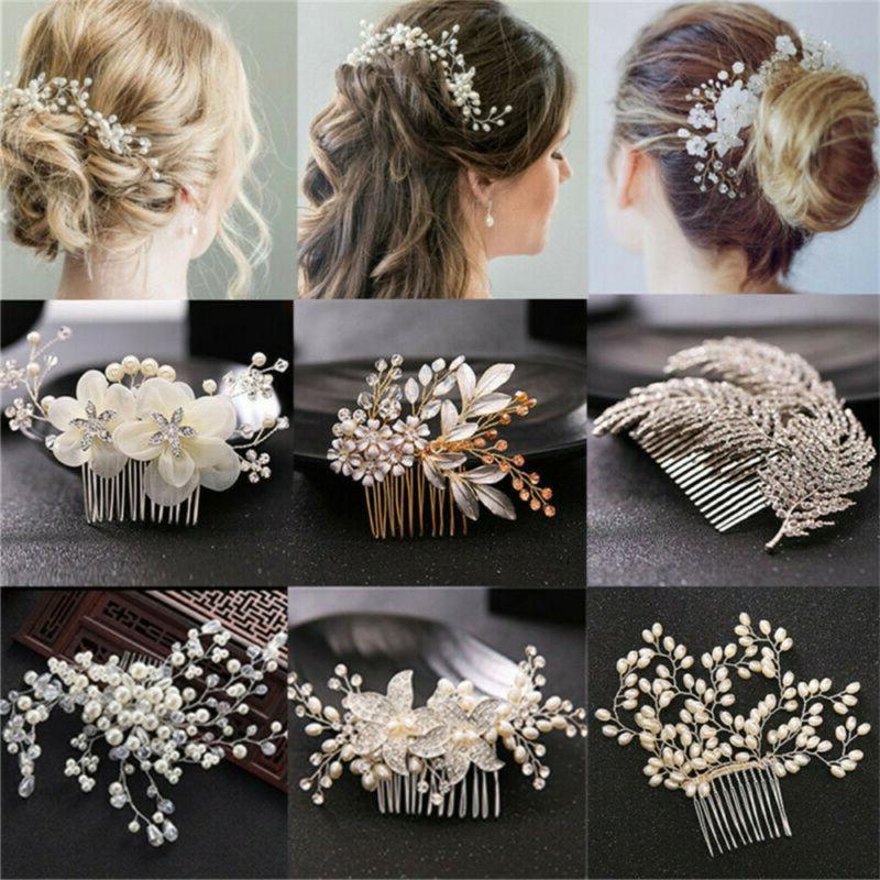 Pearl Pins Side Comb Wedding Bridal