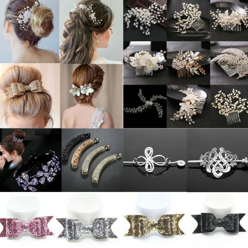 Pearl Crystal Pins Clips Bridesmaid Comb