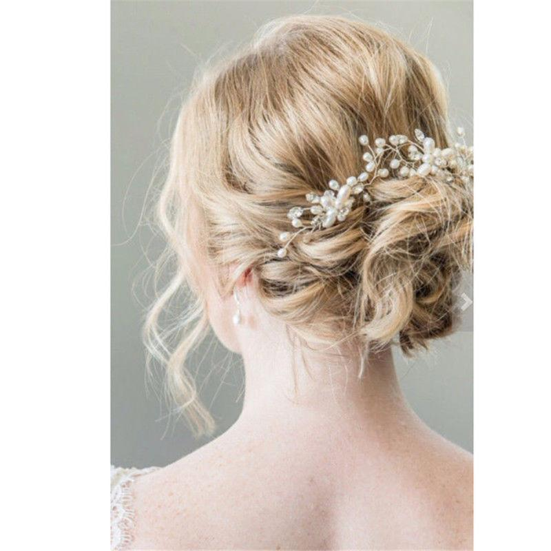 Pearl Flower Pins Comb Wedding