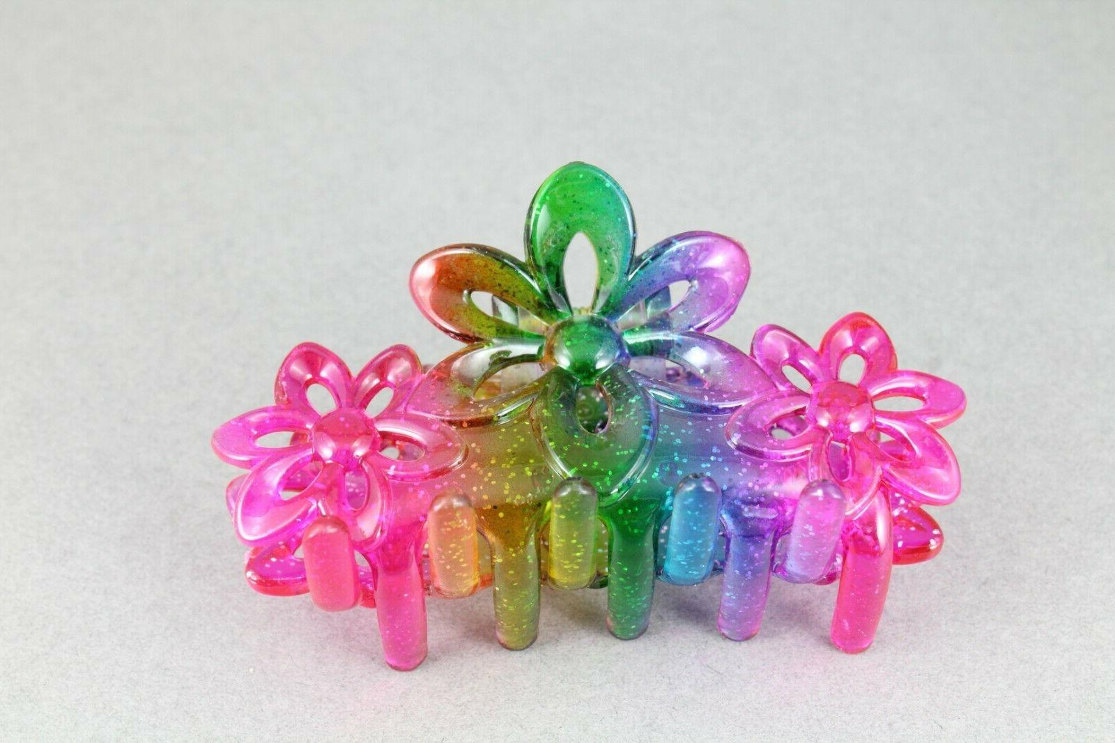 """Pink claw butterfly floral 3.5"""" long"""