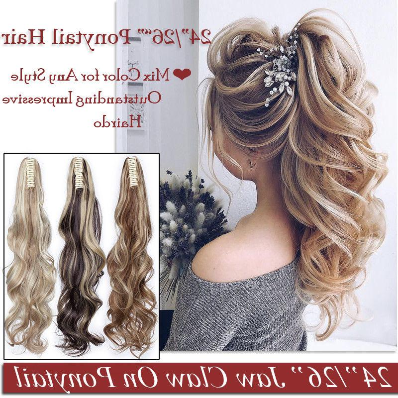 Ponytail Clip in Hair Pony tail Real for Human