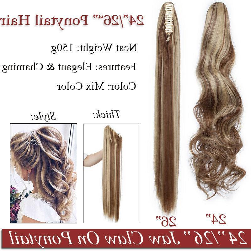 Ponytail Clip Hair Claw Pony Human Hair
