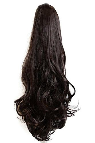 Ponytail Hair Inch Clip Synthetic Extensions Grams Long