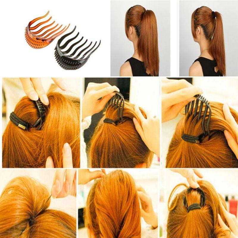 Ponytail Clip Bun Bouffant Volume Hair Comb Styling