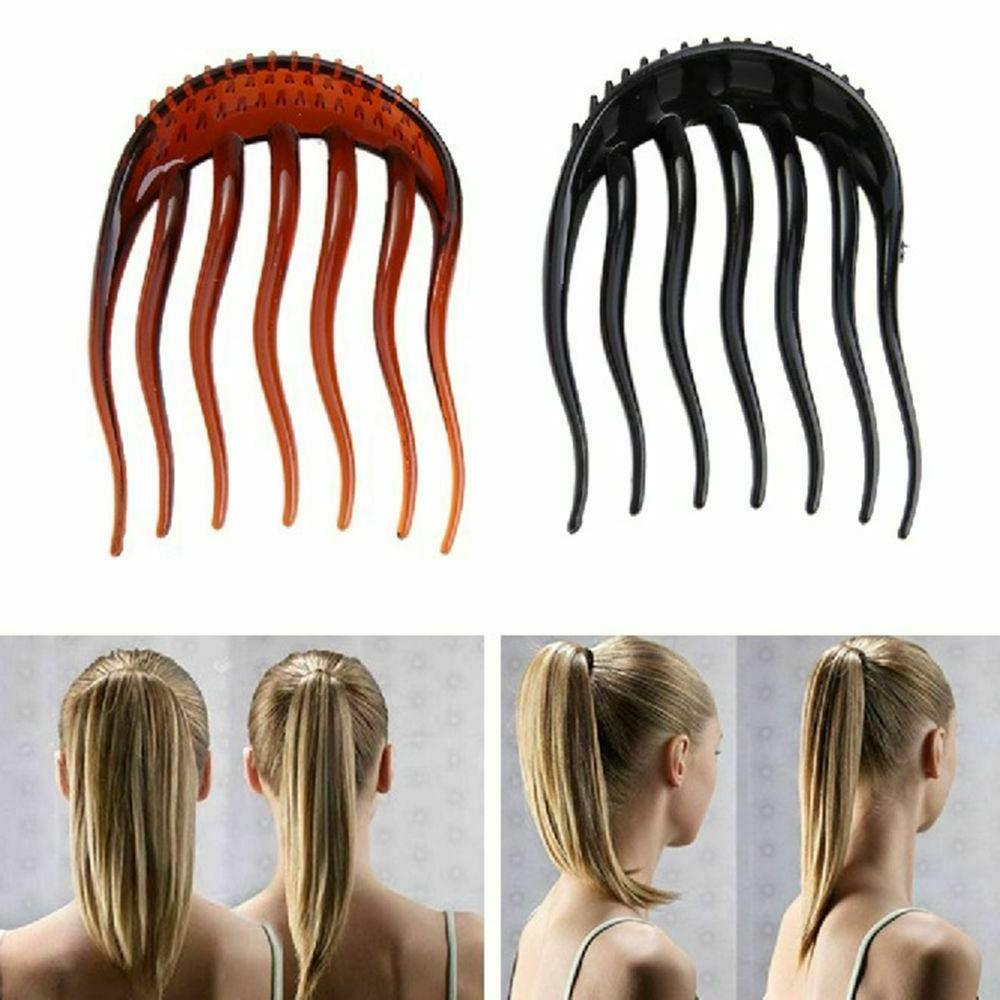 ponytail inserts hair clip bun bouffant volume
