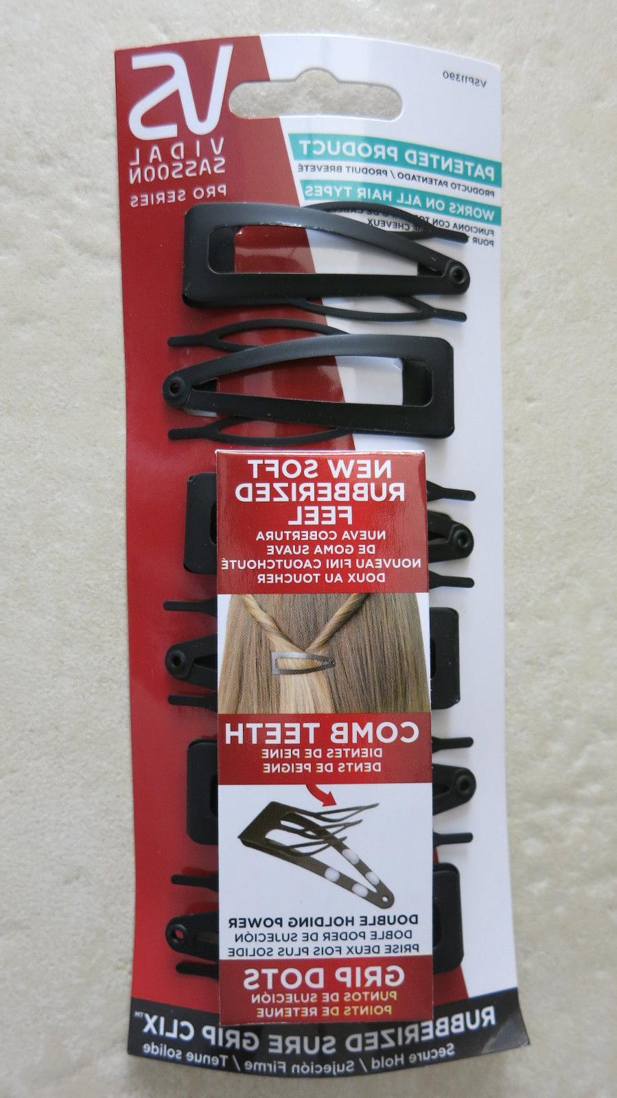 VIDAL SASSOON Pro Series Rubberized Sure Grip Clix hair clip