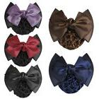 Pro Women Bow Barrette Hair Clip Cover Bowknot Bun Snood Hai