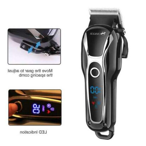 Professional Cordless LCD Ceramic Clipper Grooming Kit
