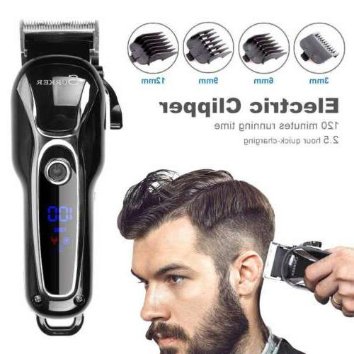 professional cordless electric lcd ceramic blade hair