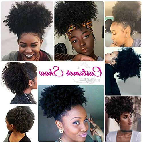 High Puff Afro Drawstring Kinky Curly in on Synthetic Curly Hair Bun Made Wrap Hair with Clips