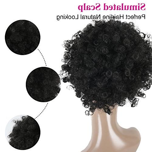 High Puff Afro Ponytail Drawstring Curly Pony Tail in Synthetic Curly Hair of Kanekalon Fiber Puff Wrap with