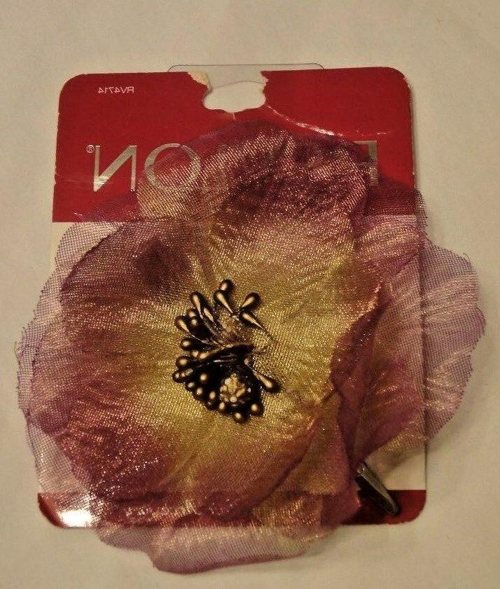 purple flower coutoure hair accessory clip rv4714