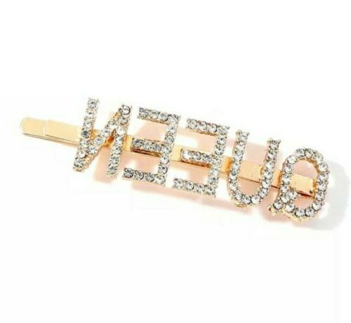 QUEEN Crystal Pin Clip Clear/Gold #411