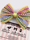 Rainbow Emoji Girly Handmade Hair Bow with Clip Emoticon Ico