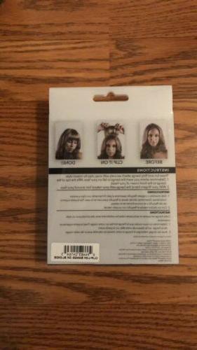 Revlon Readyto Hair Clip-Lok Bangs Dark
