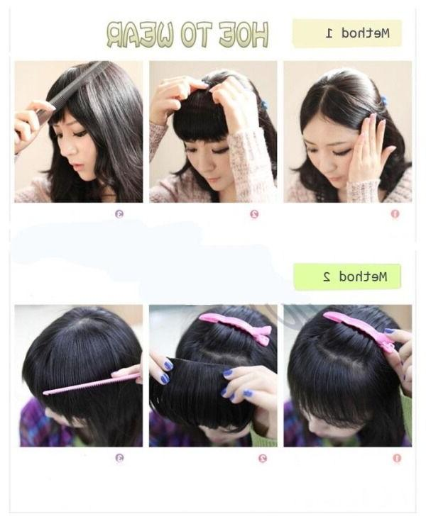 Real Clip In Hair Bangs Fringe human New