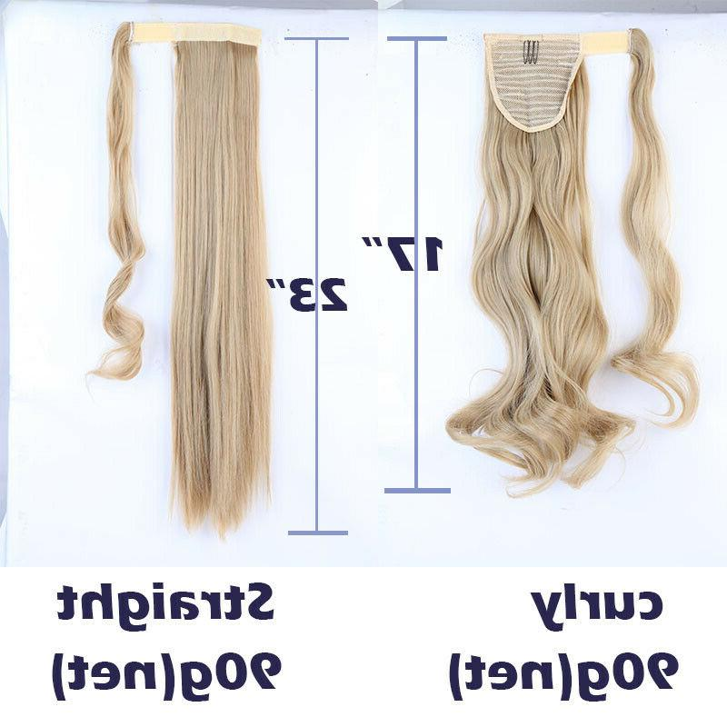 Ladies Wrap On Clip in Real Blonde