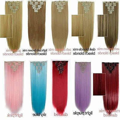 Ombre 8 Pieces Clip In as Hair Extensions Real Hair