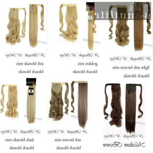 Real Thick Ponytils Hair Extensions Blonde Brown Hairpiece hg27