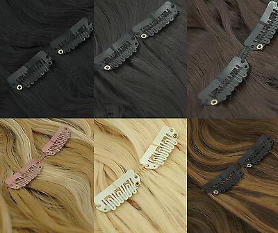 recurlable synthetic hair clip on in extensions