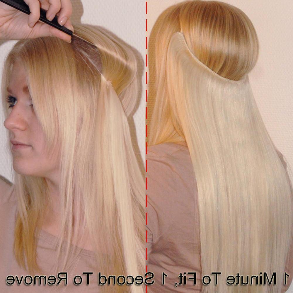 Remy Hair Hidden Secret Wire NO Clip In