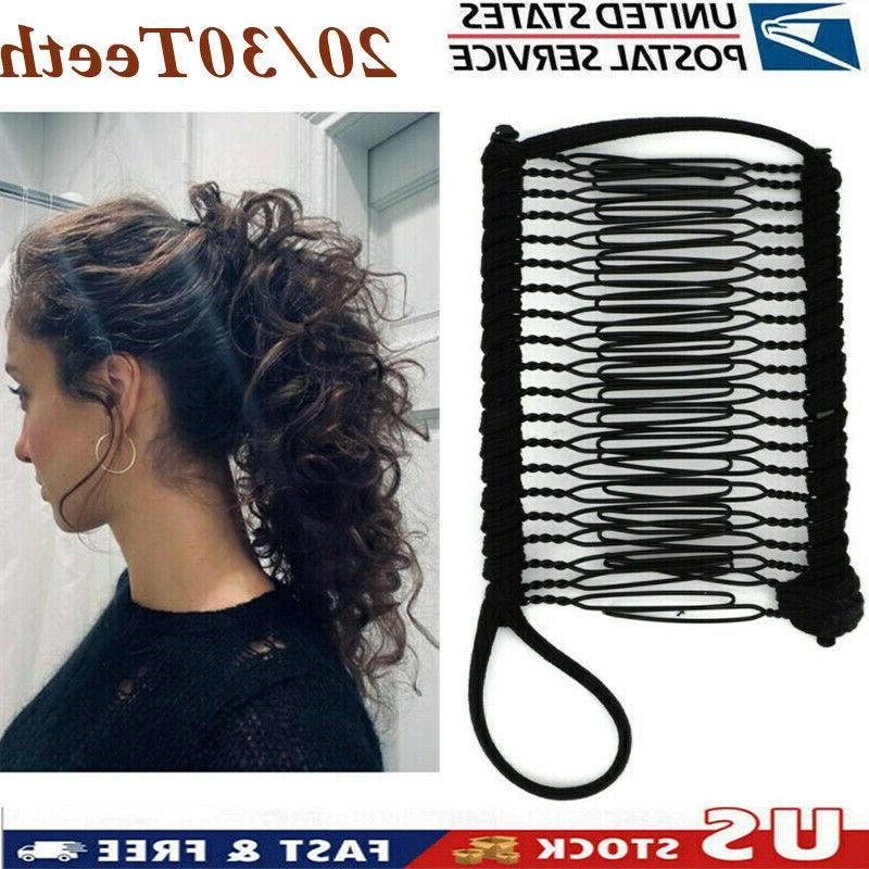 vintage banana hair clip magic comb stretchable