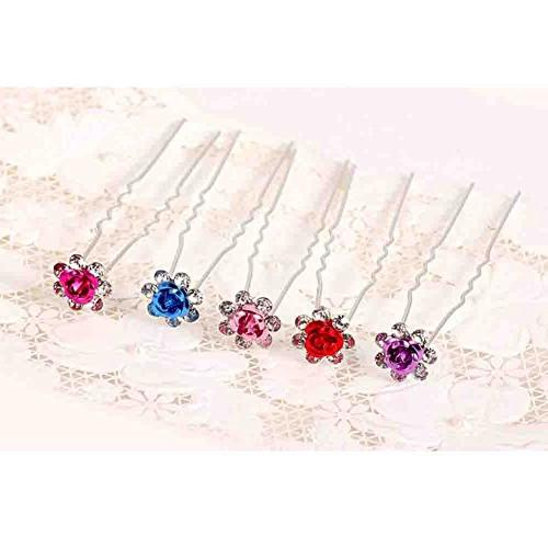6PCS Hairpin Clip Hair Wedding Jewelry Blue