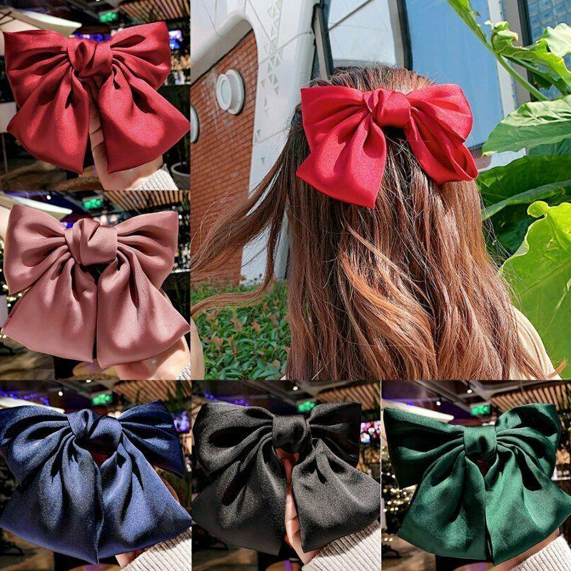 Ribbon Bow Hairpin Satin Clip Barrette Accessories