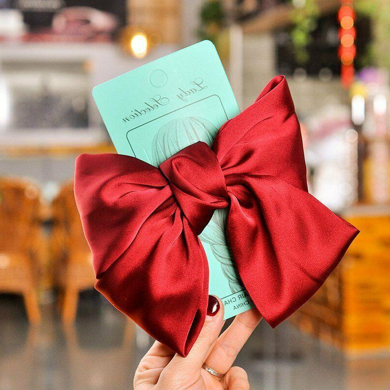 Ribbon Hairgrips Big Bow Clip Accessories