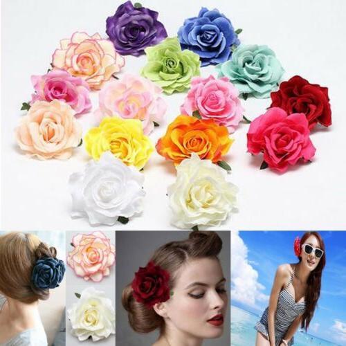 Women's Big Rose Blossom Flower Wedding Hair Clip Hairpin Br