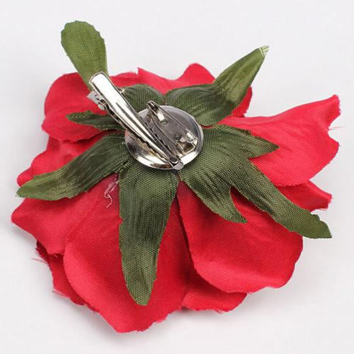 Women's Big Rose Flower Hairpin Brooch