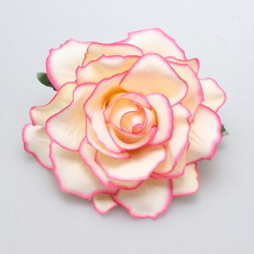 Rose Flower Hair Clip Hairpin Bridesmaid Party Accessories