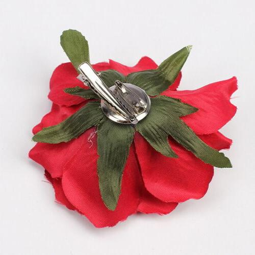 Rose Clip Hairpin Brooch Bridesmaid Accessories