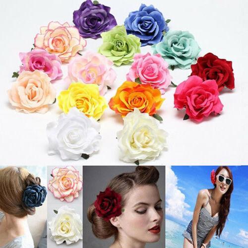 Rose Flower Hairpin Brooch Bridesmaid