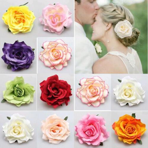 rose flower hair clip hairpin brooch wedding