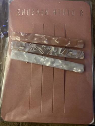 runway clip trio hair clips rose gray