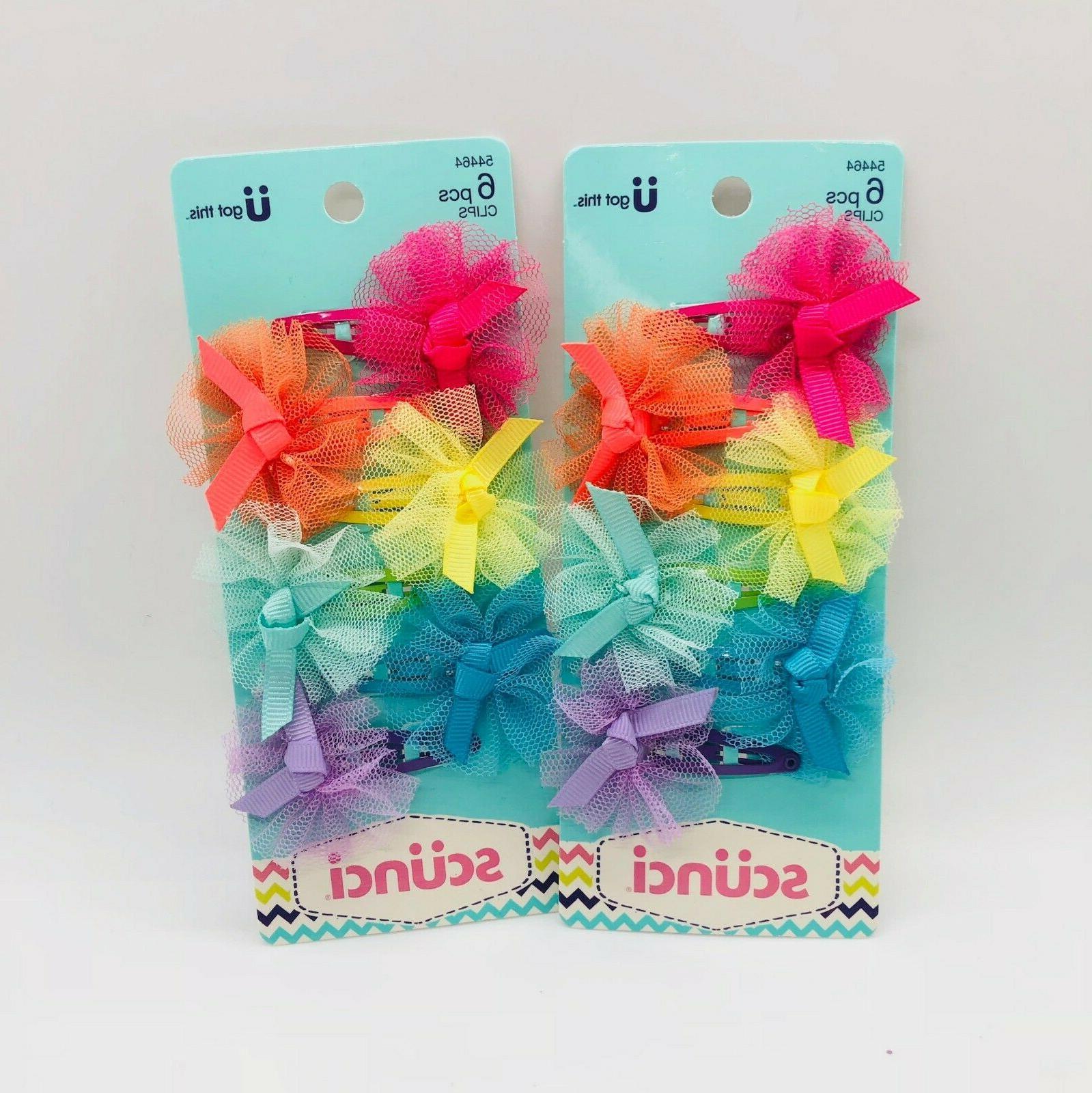 scunci childrens hair clip bows 12pcs 54464