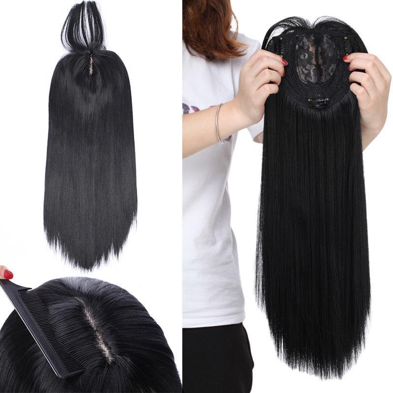 Front Topper CliP In Hair Long End For Human