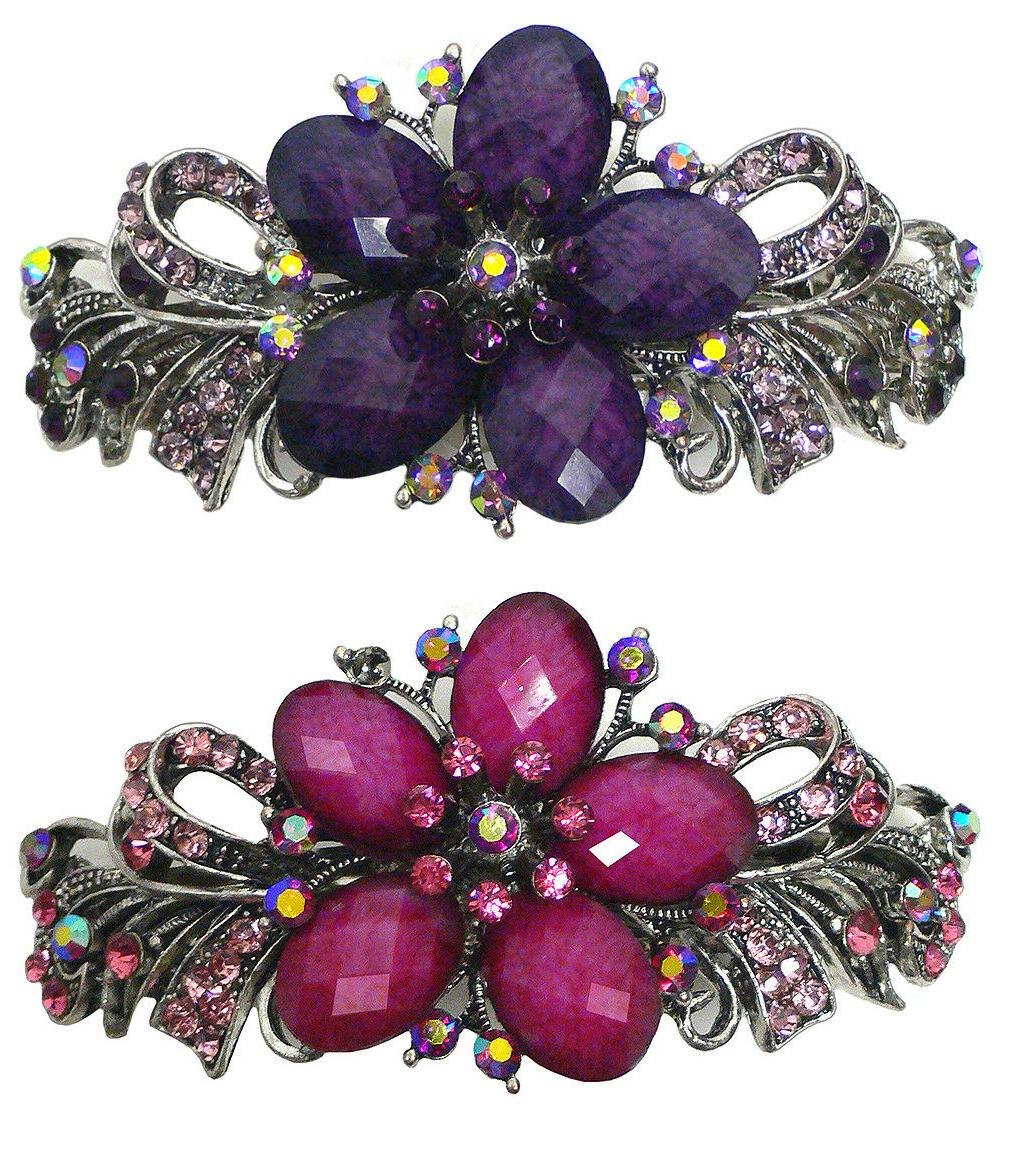 Bella Set of 2 Large Hair Clips Beads