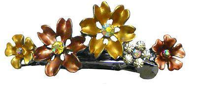 Bella Set Small Flower Crystal Hair clips YY86400-12-6