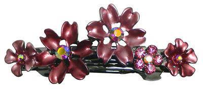 Bella of 6 Small Flower Crystal Barrettes Hair 6 YY86400-12-6